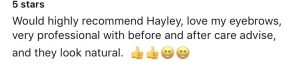 Testimonial for Hayley Ayres 9